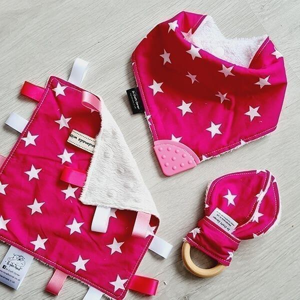 pink stars 3 piece bundle