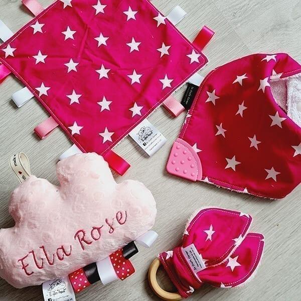 pink stars 4 piece bundle