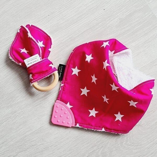Pink Stars teething bundle