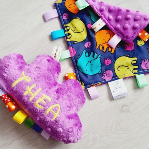 Colourful elephants 2 piece bundle