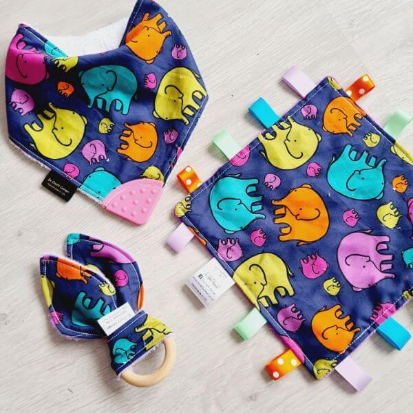 colourful elephants 3 piece bundle