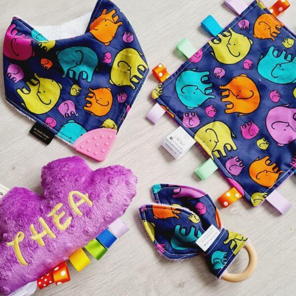 colourful elephants 4 piece bundle