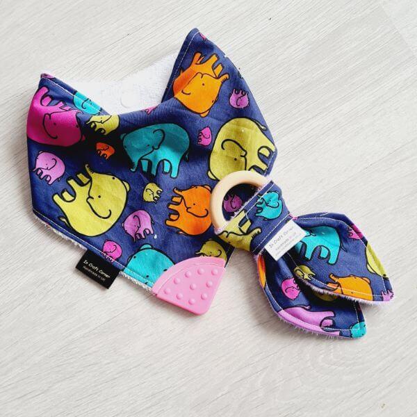 colourful elephants teething bundle