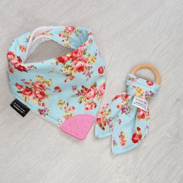 Sky Floral teething bundle