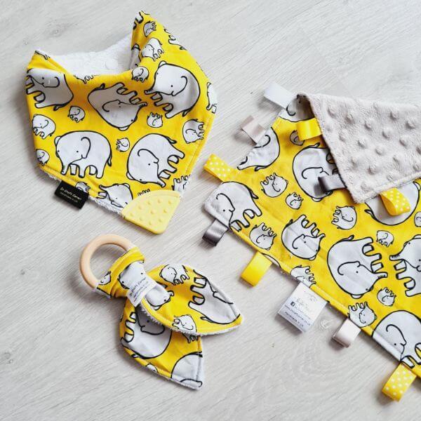 yellow elephant 3 piece bundle