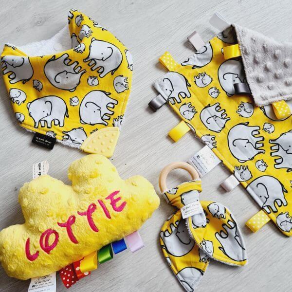 yellow elephant 4 piece bundle