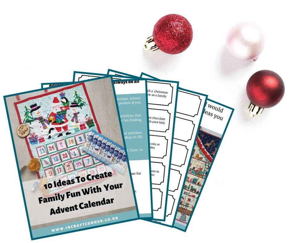 Pages of the advent calendar booklet