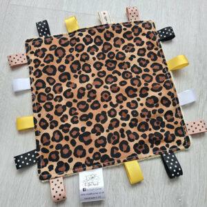 Leopard Print Taggie Blanket