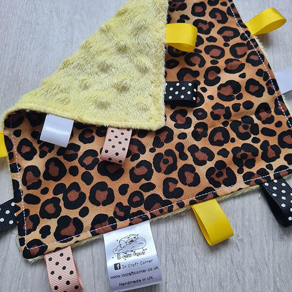 Leopard Print Taggie Blanket 2