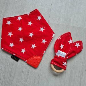 red stars teething bundle