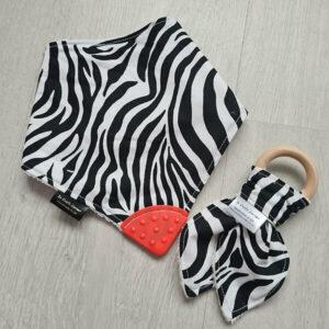 Zebra print Teething Bundle