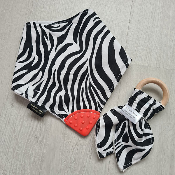 Zebra print Teething Bundle