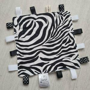 Zebra Taggie Blanket