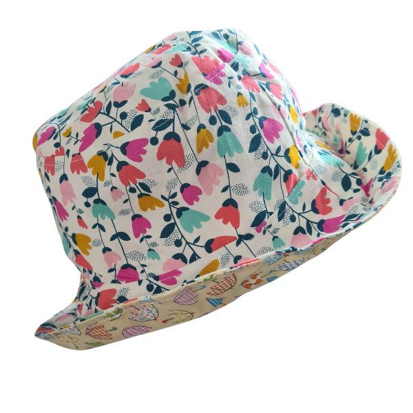 Floral Kids Sun Hat