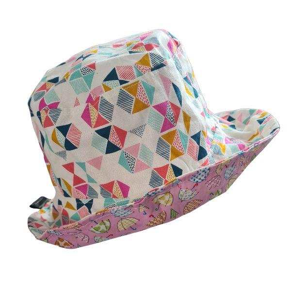 Geometric Print Kids Sun Hat