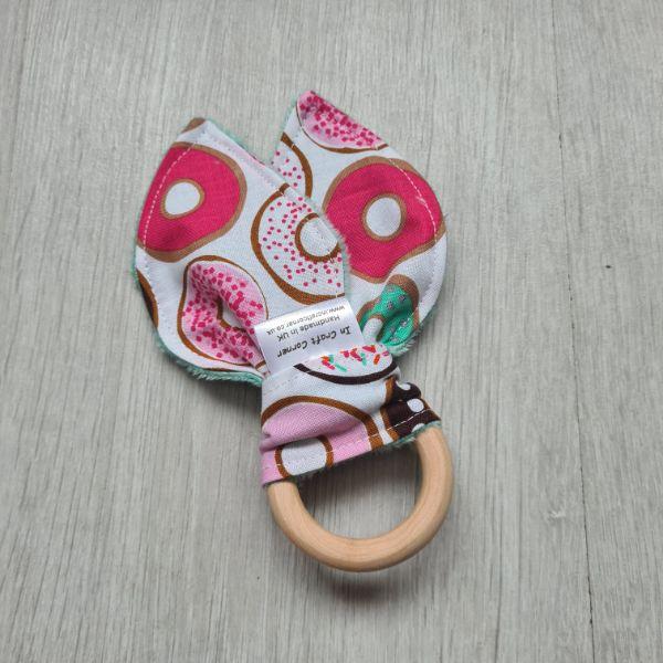 Doughnut teething ring