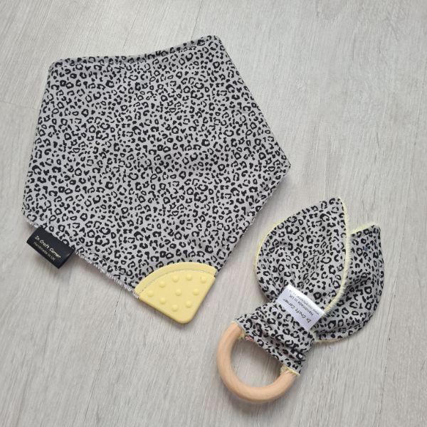 Ditsy Leopard Print Teething Bundle