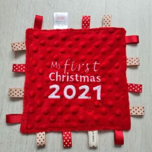 First Christmas Tag Blanket