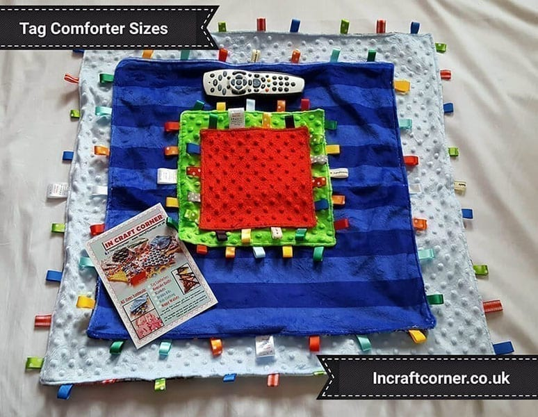 Taggie blanket sizes